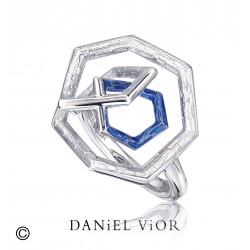 Ring TRIADA Blue enamel (Ag.925)