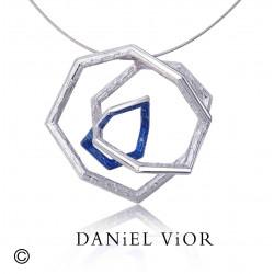 Pendant TRIADA Blue enamel (Ag.925)