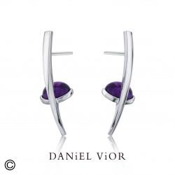 Earrings OVAS Amethyst (Ag.925)