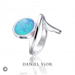 Anell VOLTA Opal sint. blau (Ag.925)