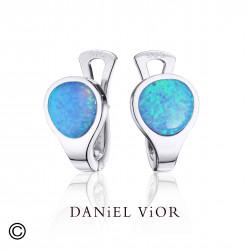 Arrecades VOLTA Opal sint. blau (Ag.925)