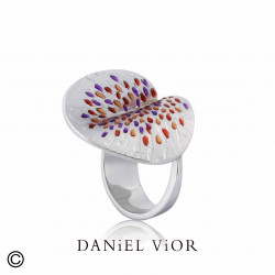 Ring PESSIC Red/violet enamel (Ag.925)