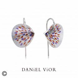 Earrings PESSIC Red/violet enamel (Ag.925)