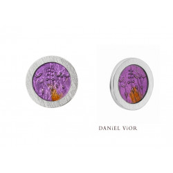 Pendientes PULSIONS Esmalte violeta (Ag.925)