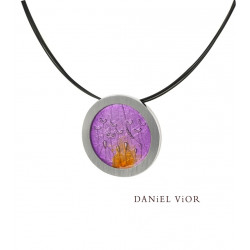 Colgante PULSIONS Esmalte violeta (Ag.925)
